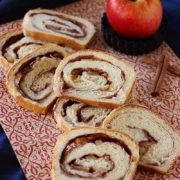 Apple Cinnamon Walnut Bread | The epitome of American comfort food with apples, cinnamon, walnuts and white bread. Find recipe at redstaryeast.com.