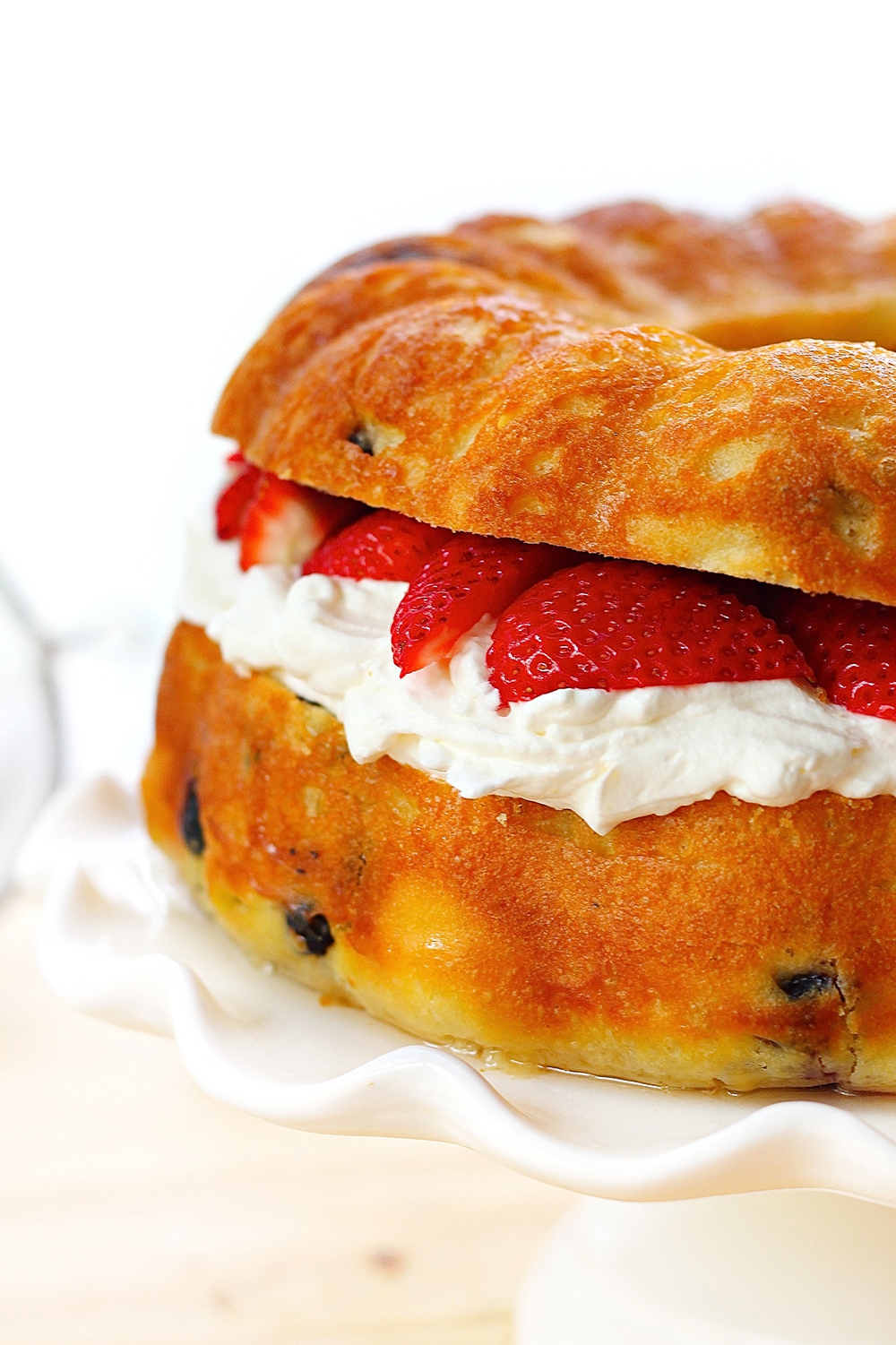 Baba Au Rhum with Strawberries