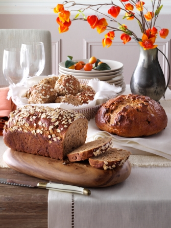 Oatmeal Walnut Breads & Rolls