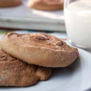Chocolate Cinnamon Crisps | These large crisp rolls, also known as elephant ears, are sure to be a hit as an after school snack. They include children's two favorite flavors - chocolate and cinnamon. Find recipe at redstaryeast.com.