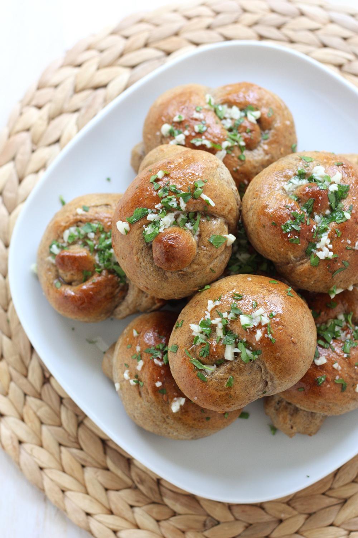 bread machine garlic knots