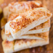 One Hour Buttery Breadsticks - Salted and Cinnamon-Sugar (vegan)