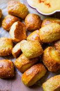 Soft Pretzel Bites | Chewy & soft pretzel bites are the ultimate comfort food and party snack. You won't be able to stop reaching for bite after bite! Find recipe at redstaryeast.com.