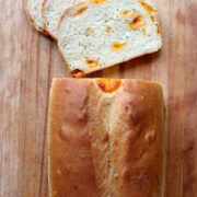 Cheddar-Chunk and Chive Bread
