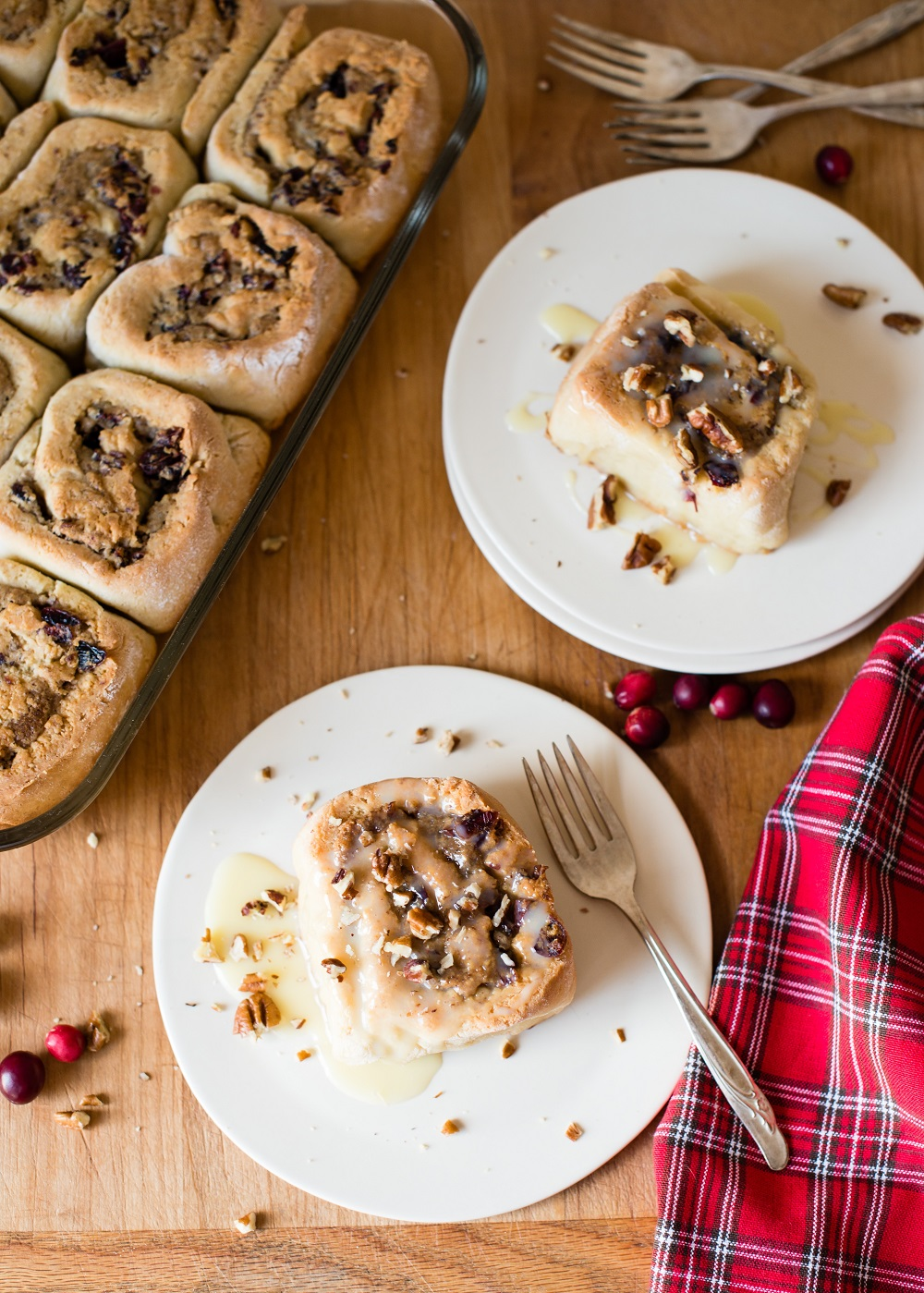 Cranberry Pecan Rolls Recipe — Dishmaps