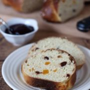 This Apricot Cherry Breakfast Bread is a sweet, light, tender bread studded with dried apricots and tart cherries. Serve it for breakfast slathered with your favorite jam. Find recipe at redstaryeast.com.