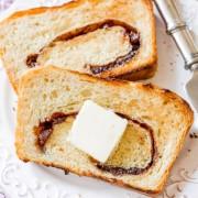 Homemade Cinnamon Raisin Swirl Bread