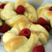 Lemon Sweet Roll Twists | These sweet roll twists are perfect for any occasion. The dough is light with a filling that is full of creamy lemon flavor. Find recipe at redstaryeast.com.