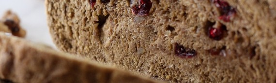 Whole Wheat Cranberry Walnut Bread