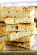 Za'atar Focaccia | This tender, fluffy and lightly chewy focaccia topped with a sprinkling of savory za'atar spice is so delicious and so easy to make, you'll want to bake it for every occasion! Find recipe at redstaryeast.com.