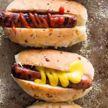 Cheesy Herb Hot Dog Buns