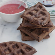 Chocolate Yeast Waffles