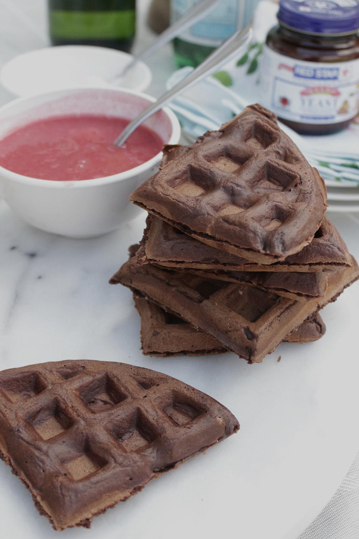 Chocolate Yeast Waffles | Red Star Yeast