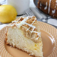 Cream Cheese Swirled Lemon Coffee Cake