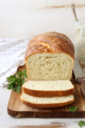 Buttermilk Ranch Sandwich Bread | Light and tender sandwich bread flavored with buttermilk and fresh herbs. Find recipe at redstaryeast.com.
