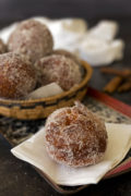 Easy, fun-to-make Cinnamon Sugar Malasadas. Hawaiian donuts made with a rich buttery dough, served hot from the fryer rolled in cinnamon sugar. Find recipe at redstaryeast.com.