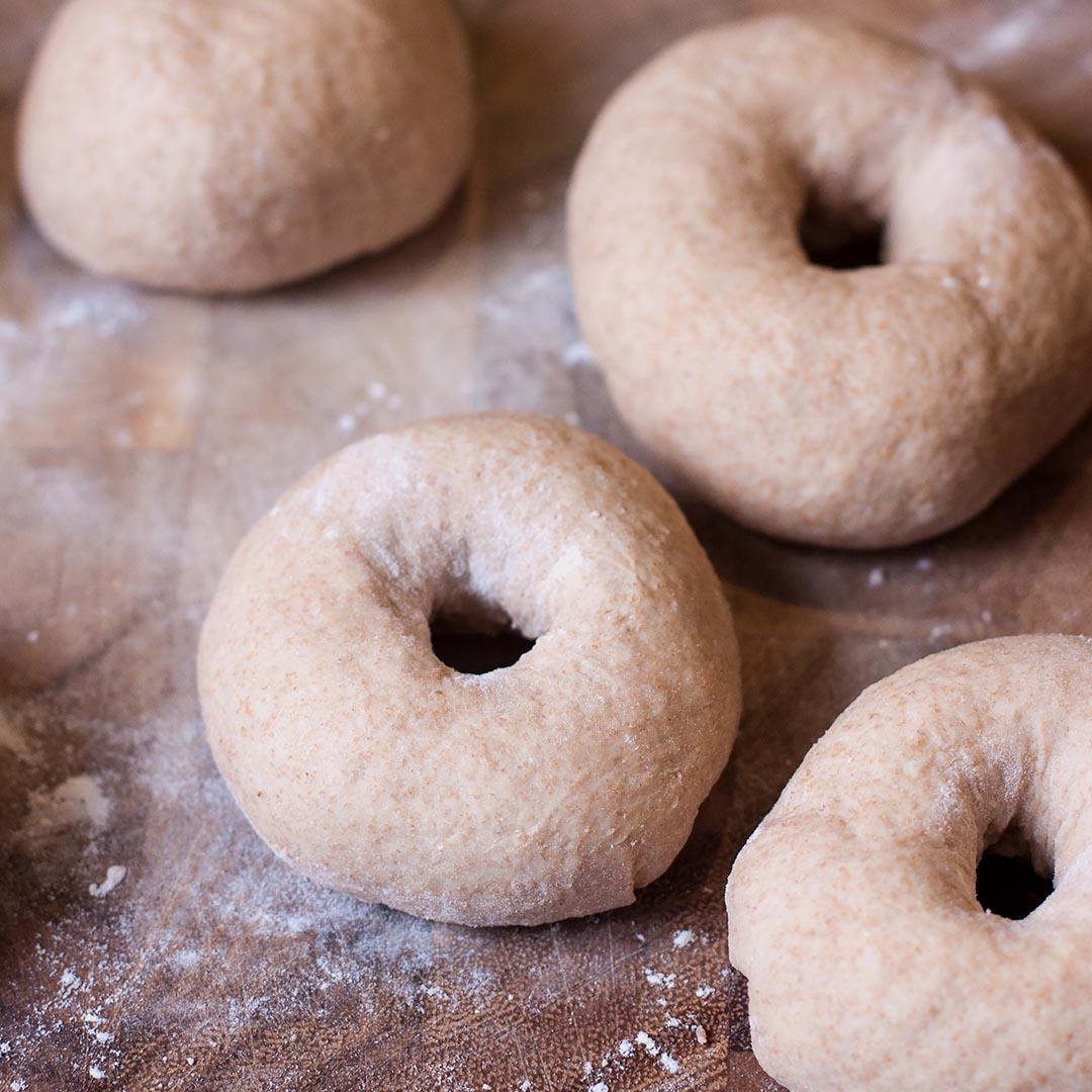 Honey Wheat Bagels