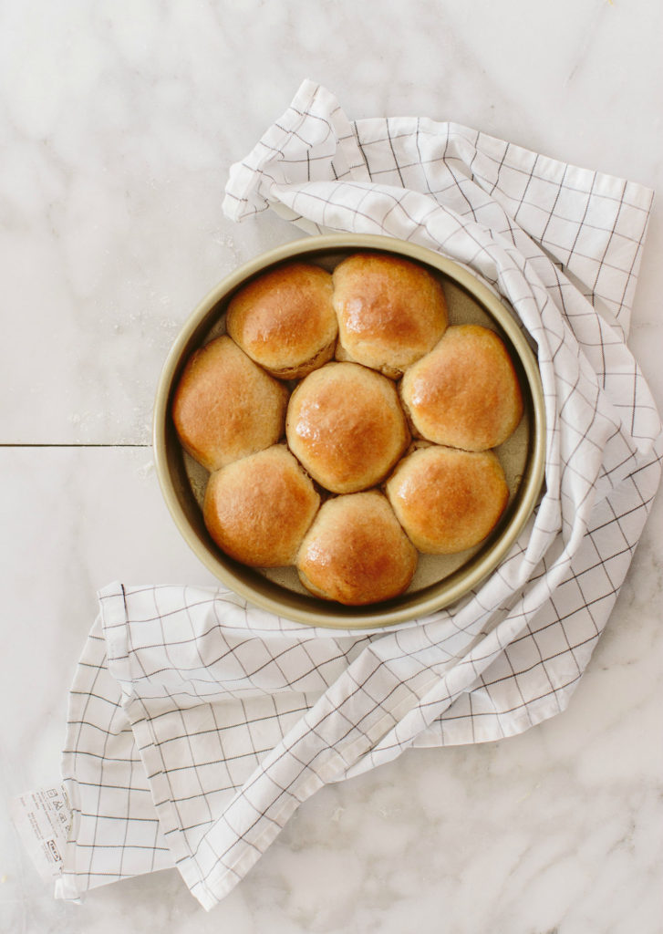 Whole Wheat Pull Apart Dinner Rolls