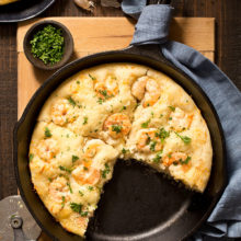 Shrimp Scampi Skillet Pizza