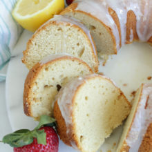 Gluten Free Lemon Bundt Cake | This delicious cake is tender and moist. It makes the perfect breakfast, snack or sweet dessert. Decorate with colorful berries or a dollop of whipped cream. Find recipe at redstaryeast.com.