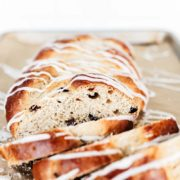 Braided Rum Raisin Bread | This Rum Raisin Bread is beautifully braided and loaded with comforting flavors, making it perfect for the holiday season. A super impressive recipe, but surprisingly achievable! Find recipe at redstaryeast.com.