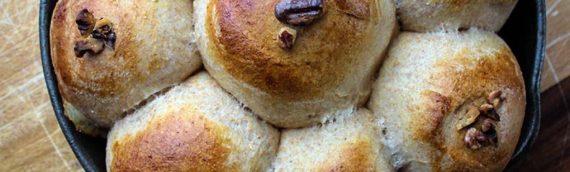 Goat Cheese Stuffed Honey Wheat Rolls