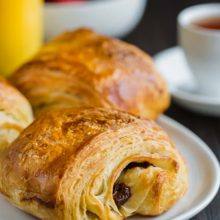 Pain au Chocolat | You can achieve bakery-style, authentic pain au chocolat (chocolate croissants) from scratch with these easy-to-follow directions and tips for success! You'll get crisp flaky on the outside, soft and buttery on the inside croissants with perfect amount of intense chocolate in every bite! Find recipe at redstaryeast.com.