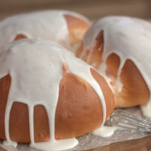Trinity Easter Bread | A traditional Greek bread, which according to tradition represents the Trinity. At Easter time, each person is served a slice from each of the breads. Find recipe at redstaryeast.com.