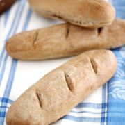 Wheat Baguettes | These baguettes are made with simple, wholesome ingredients like whole wheat flour and Red Star Platinum Yeast. They're a cinch to make, too -- perfect for a weekend baking project. Serve them sliced warm with a pat of butter or use them to make delicious homemade sub sandwiches. Find recipe at redstaryeast.com.
