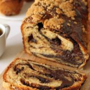 Whole Grain Chocolate Babka | This super rich and moist whole grain babka is loaded with chocolate and cinnamon and stays fresh for days! Find recipe at redstaryeast.com.