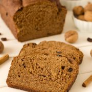 Alpine Wheat Bread | This 100% whole wheat loaf is inspired by the Swiss cereal, Müesli, and is full of cinnamon flavor and studded with raisins and walnuts! Find recipe at redstaryeast.com.