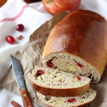 Apple Cranberry Bread | A perfect accompaniment for a holiday dinner or luncheon. Find recipe at redstaryeast.com.