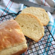 Baked Potato Bread | Soft and fluffy white bread with subtle onion flavor. Perfect for sandwiches. Find recipe at redstaryeast.com.