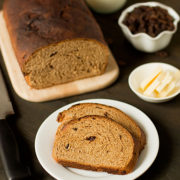 Buttermilk Whole Wheat Raisin Bread | Passed-down through generations, this bread combines many of out favorite ingredients in one loaf: buttermilk for a soft crumb, whole wheat flour for added fiber, and plump raisins for sweetness. Find recipe at redstaryeast.com.