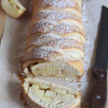 Caramel Apple Braided Bread | Apples and caramel, the ultimate flavor combination of fall, come together in this beautiful braided bread. Find recipe at redstaryeast.com.