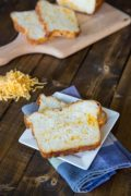 Cheesy English Crumpet Bread   A savory loaf, perfect for grilled cheese sandwiches. Find recipe at redstaryeast.com.