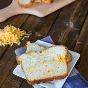 Cheesy English Crumpet Bread | A savory loaf, perfect for grilled cheese sandwiches. Find recipe at redstaryeast.com.