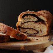 Chocolate Cinnamon Babka | A light and fluffy sweet bread filled with swirls of rich dark chocolate and cinnamon. Toast a slice for breakfast with some butter or cream cheese. This chocolate babka would also make great French toast. | Find recipe at redstaryeast.