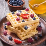 Crispy Yeast Waffles | You will like the difference yeast makes in waffles; they are absolutely delicious! Make them ahead and then experience the convenience of having the batter prepared and ready for the waffle iron just before you are ready to serve. Find recipe at redstaryeast.com