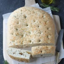 Focaccia | A light and chewy Italian flatbread that you can customize with your favorite toppings. Serve as a side to any meal or use to make sandwiches. Find recipe at redstaryeast.com.