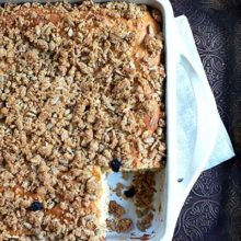 Granola Crunch Coffee Cake | Start the day right with this easy coffee cake - granola and sunflower nuts add a nice crunch. Find recipe at redstaryeast.com.