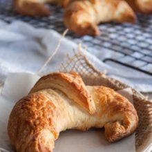 Light and Flaky Croissants | These take a little bit of effort, but are so worth it! Find recipe at redstaryeast.com.