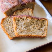 No Knead Honey Oat Bread | A delicious no-knead bread, slightly sweet with a cinnamon and sugar crusted top. Find recipe at redstaryeast.com.