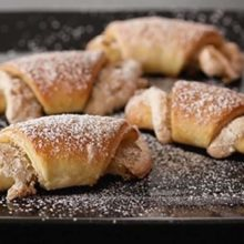 Nut-Filled Butterhorns | It seems many nationalities claim these dainty rolls are from their ethnic heritage. It is no wonder as they add a delightful treat to any occasion. Find recipe at redstaryeast.com.