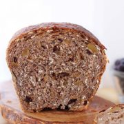 Oatmeal Breakfast Bread | Packed with rolled oats, pecans and raisins for a fueling and satisfying breakfast. Find recipe at redstaryeast.com.