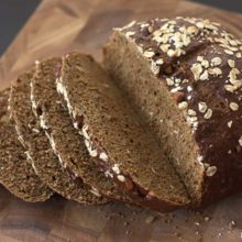 Oatmeal Walnut Bread | The molasses imparts a rich flavor with just a hint of sweetness, and the walnuts add a nice crunch to this hearty bread. Find recipe at redstaryeast.com.