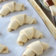 Quick and Easy Croissants | Our simplified version of the croissant eliminates the need to roll in layers of butter, not to mention extra fat. Find recipe at redstaryeast.com.