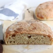 Roasted Garlic Ciabatta Bread | Classic ciabatta bread with a garlic twist. Perfect for sandwiches or mopping up sauces and soup. Find recipe at redstaryeast.com.