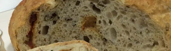 No Knead Savory Crusty Rustic Bread