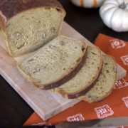 Spiced Pumpkin Bread | Perfect breakfast bread topped with butter or your favorite spread. Find recipe at redstaryeast.com.